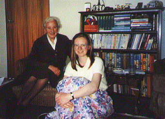 Photograph of Alison Lindsay with Jane Shaw